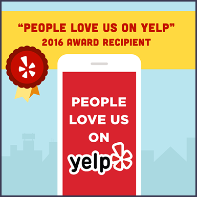 Dr Kosta Adams Yelp Award badge